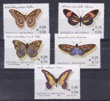 Argentina 1985 Farfalle 1501-5 MHN