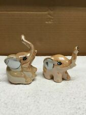 Pair Of Ceramic Elephant Figurines