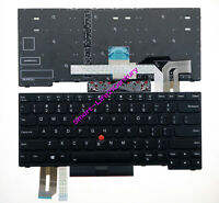 AUTENS Replacement US Keyboard for Lenovo ThinkPad E490 E495 T490 T490s L490 Laptop Black 1 Year Warranty Backlight