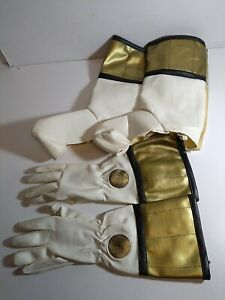 Vintage Mighty Morphin Power Rangers White Ranger Gloves & Boots Role Play Lot