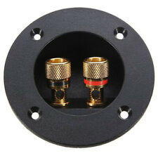 2-Way Stereo Speaker Box Terminal Binding Post Screw Cup Connector for Car Home