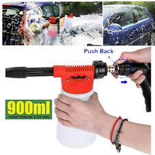 2 in 1 Snow Foam Washer Gun Car Wash Soap Lance Cannon Spray Pressure Jet Bottle