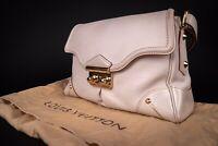 Authentic LOUIS VUITTON Suhali L'Absolu Cream Leather Bag. Ltd Edition. Dust Bag