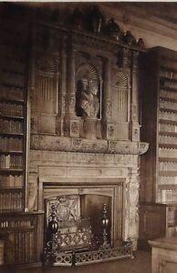 1896 Antiguo Estampado ( Queen Elizabeth I) Chimney-Piece Del Biblioteca At