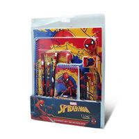 Set Artículos de Papelería Niños Oficial Marvel Araña 11Pcs Material Escuela