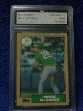 """""""ROOKIE CARD 1987 TOPPS#366 MARK MCGWIRE GRADE A POPING 10"""