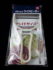 Pelador de Acero Inoxidable Blanco Patata Vegetal Fruta herramientas de cocina hecho en Japón