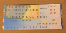 1984 Michael Schenker Group Country Club Reseda Concert Ticket Stub U.F.O. Msg 4
