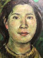 Lijin Portrait Peinture Art Deco Moderne Chine Chinois China Painting HSP Desi
