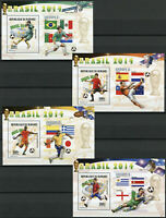 Burundi 2014 MNH World Cup Football Brazil 8x 1v Deluxe S/S Soccer Sports Stamps