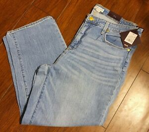 Women's Plus Size High-Rise Ankle Length Straight Leg Jeans  Ava & Viv 16W NWT