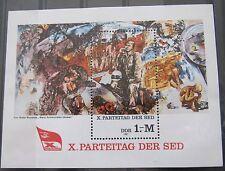 DDR Briefmarken 1981 Block 63 Parteitag der SED Postfrisch