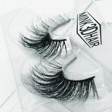 Handmade Real Mink Fur False eyelash Strip Mink lashes Thick Fake Faux Eyelashes