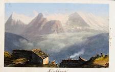 1870 Schweiz Berner Oberland Faulhorn Eiger Mönch Jungfrau Aquatina-Ansicht