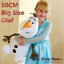 """18"""" Big Cute Frozen Olaf Snowman Snow Man Soft Plush Stuffed Teddy Doll Toy"""
