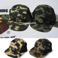 A BATHING APE Goods Men's 1ST CAMO APE HEAD ONE POINT MESH JET CAP 2color New