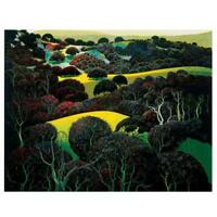 "Eyvind Earle ""Santa Ynez Memories"" Hand-Signed Limited Edition Serigraph COA"