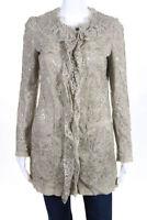 Dolce & Gabbana Womens Blazer Size Italian 38 Beige Floral Lace New $951