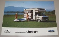 Auto Prospekt Katalog Ford Transit Motorcaravan Junior Januar 1984!