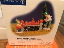 Department 56 Snow Village Halloween Lighting the Jack-O'Laterns