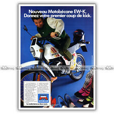 PUB MOTOBECANE 50 EW-K ENDURO 50EW-K 50EWK - Moped Ad / Publicité Cyclo de 1983