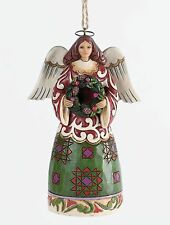 4034407 Heartwood Creek Angel with Wreath hanging Ornament by Jim Shore 19916