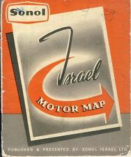 Sonol Israël Ltd. Israël moteur map 1958 Jewish voiture Card