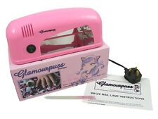 Glamourpuss Boutique 9W UV Nail Lamp Pink 1 x 9W Bulb Gel Manicure Cure Nail Art