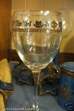 Western  Wine Glasses Branded Glassware Dinnerware 106 15 1/2 OZ BRANDS ROPE
