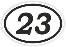 23 TWENTY-THREE NUMBER OVAL STICKER bumper decal motocross motorcycle Aufkleber