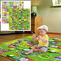 IK- Baby Kids Toddler Crawl Play Game Picnic Mat Alphabet Printing Carpet Exquis
