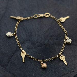 Gold Armband 750er Gelbgold/Weißgold/Roségold 18K, 18 cm, Bettelarmband