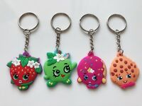 4x Girls Kids Children Shopkins school Key Ring holder Keyring Key Chain gift