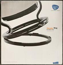Ekornes Stressless Size MEDIUM Chair Elevator Ring Black Classic Base Style *NEW
