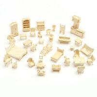 34 Pcs/Set 3D Wooden Miniature Puzzle Dollhouse Furniture Model Mini Puzzle Toys