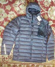 NWT ADIDAS Hooded LT Down Jacket, Large, black