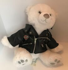 Build-A-Bear with Harley Davidson Faux Leather Jacket