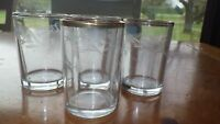 Vintage Etched Juice glasses by Federal Glass Company floral vine design 4 4oz