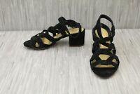 **Splendid Barrymore LL1224 Sandals, Women's Size 8, Black Suede