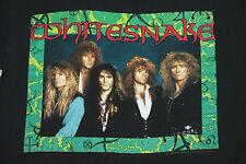 M * vtg 1990 Whitesnake t shirt * 8.89 glam 80s hair metal