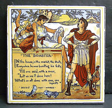 Vintage Tile Trivet-Walter Crane The Boaster by Mosaic Tile Co.