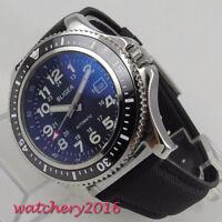 44mm Bliger Schwarz dial Date Luminous Hands Automatisch movement Uhr mens Watch