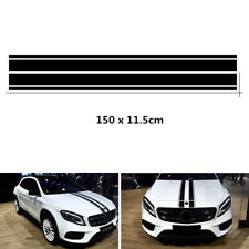 NEW Style Racing Car Double Line Hood Black Stripes Graphics Decal Sticker 150CM