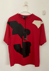 Y-3 Adidas U Vars SS Red T-Shirt. Size M. BNWT