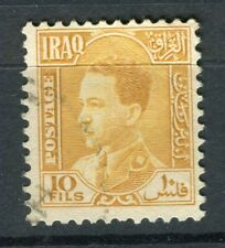 IRAQ; 1934 early King Ghazi issue fine used 10fl. value