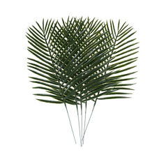 5pcs Artificial Green Plants Decorative Palm Areca Leaves Wedding Party Decor ^D