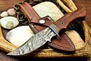 Rare!!! Custom Hand Made Damascus Steel Blade Hunting Knife | Walnut Wood |