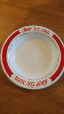 Rare: T.G.Green (Cornishware) Gresley Unused BASS For Men Ashtray - red white