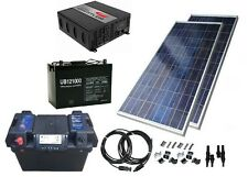 Off-Grid Solar Power Kit w/ 1200W Power Inverter, 130W Panel & Battery