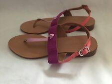 RARE élégant Pretty Zara plat rose violet Couleur Sandales Chaussures UK 4 (37) ☆